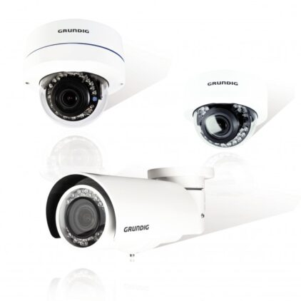 Grundig's new IP cameras feature Quad Scan WDR and low light capability.