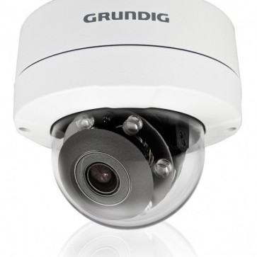 Grundig's 3MP IP cameras have low light sensitivity, IR and WDR.