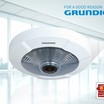 Grundig's Ultra HD, 6MP Fisheye with ImmerVision, panomorph 360° viewing.