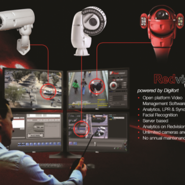 Redvision product range advert.
