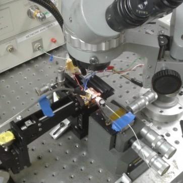 Detuning DFB lasers increases fibre optic bandwidth, explained Horacio Cantu at AOP 2017.