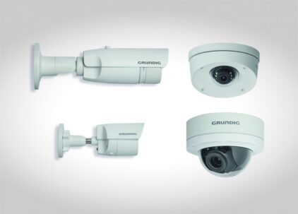 Grundig's Connect IP, 3MP camera range sets the industry standard.